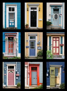 We have the best front doors in the world here in St. John's! And I know people who live behind two of these doors.