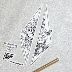 Dotwork rose matching tattoo couple tattoo - new shop opening soon: www.rawaf.shop