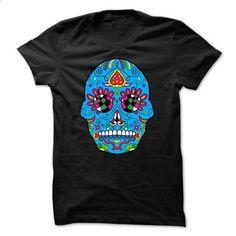 Day Of The Dead Blue Sugar Skull  - #tshirt organization #christmas sweater. ORDER HERE => https://www.sunfrog.com/Holidays/Day-Of-The-Dead-Blue-Sugar-Skull-.html?68278