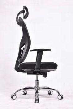 Armrest Contolling High Grade Ergonomic Office Chair In Full Mesh Finish