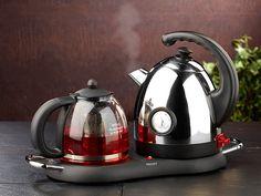 Rosenstein & Söhne Edelstahl-Wasserkocher mit Teekanne und Stövchen