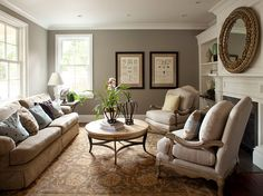 Paint color is Rockport Gray HC-105 by Benjamin Moore. Trim Paint color is Cotton Balls OC-122 by Benjamin Moore.