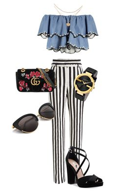 Off shoulders by maize-xx on Polyvore featuring HUISHAN ZHANG, Dolce&Gabbana, Nina and Gucci
