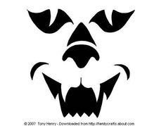 Cat Face Pumpkin Carving Pattern & 12 more to choose from.