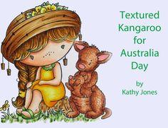 copic oz: Texture for Australia Day