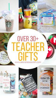 Over 30 Teacher Appreciation or Back to School Gift Ideas Back To School Teacher, Back To School Gifts, School Fun, Craft Gifts, Diy Gifts, Handmade Gifts, Teacher Appreciation Week, Teacher Gifts, Employee Appreciation