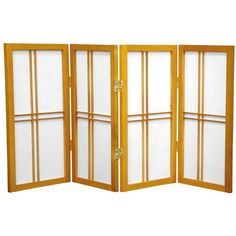 "Oriental Furniture 26"" Desktop Double Cross Shoji Screen 4 Panel Room Divider Finish:"