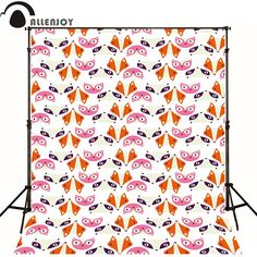 Allenjoy Photographic background Fox Pink Orange newborn vinyl backdrops  interesting camera fotografica wall floor
