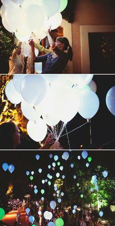 lacher de ballons lumineux