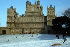 1970s in the snow wollaton hall nottingham