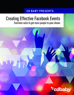 Creating effective facebook events free pdf