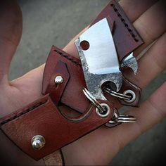 Custom keychain-opener. Hand made bottle-opener. Forged opener