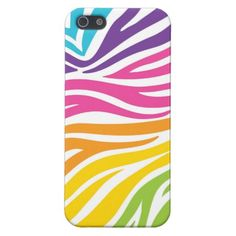Colorful Zebra Print Cool iPhone 5 Cases for Girls