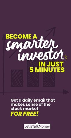 Become a Smarter Investor in just 5 MinutesGet a daily email that makes sense of the stock market! Stay informed and invest smarter...for FREE! #investor #pinterest #investingtips #stockmarket #trading #forex #financial #finance #moneytips #millionaire #abundance #mindset #billionaire #cash #cashflow Chartered Financial Analyst, Peer To Peer Lending, How To Make Money, How To Become, Money Trading, Investment Advice, Real Estate Investing, Make Sense, Money Tips