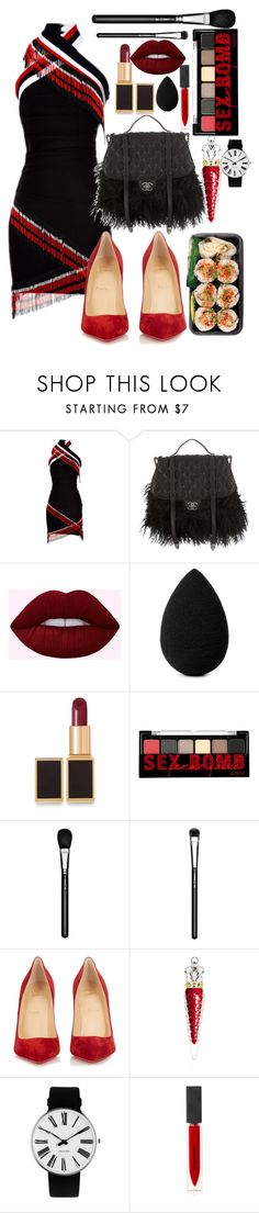 """I'm into you - Jennifer Lopez ft Lil Wayne"" by annabidel ❤ liked on Polyvore featuring Preen, Chanel, beautyblender, Tom Ford, NYX, MAC Cosmetics, Christian Louboutin, Rosendahl and Burberry"