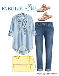 A chambray shirt is a casual wardrobe staple | Fabulous After 40