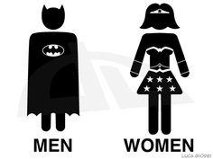 Batman and WonderWoman Toilet by LucaGiorgi.deviantart.com on @deviantART