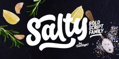 Salty font family by Fenotype