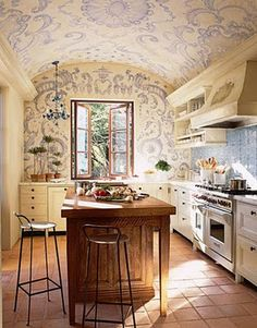 painting or papering the ceiling in the same stuff is a very good idea - makes you feel held in the room.