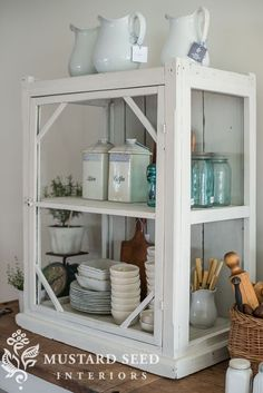 the antique display case makeover - Miss Mustard Seed