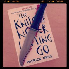 Bookish Photo (Mine) + Recommendation: One of my favorite dystopians: The Knife of Never Letting go by Patrick Ness. It's hard and painful, but also an amazing read.