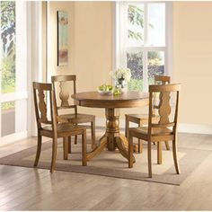 Better Homes and Gardens 5 Piece Cambridge Dining Set, Honey
