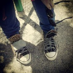 Is that leopard Chucks I see?! Oh my!