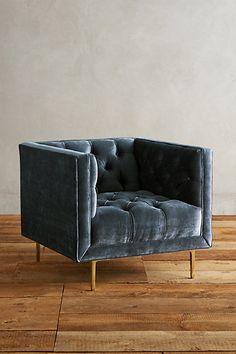 Slub Velvet Mina Chair #anthropologie
