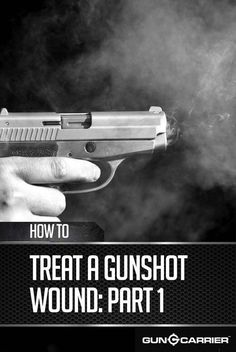 It's important for every gun owner to know how to treat a gunshot wound. In part 1 of our series you'll learn about the different types of gunshot wounds. Camping Survival, Survival Prepping, Emergency Preparedness, Survival Gear, Survival Skills, Emergency Planning, Emergency Preparation, Emergency Medicine, First Aid
