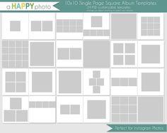 10 x 10 Instagram Square Album Vorlage 24 einzelne von ahappyphoto