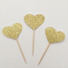 Glitter Heart Cupcake Topper • Bridal Shower • Wedding Topper • Valentine's Day • Engagement • Birthday • Anniversary by TrendiConfetti on Etsy https://www.etsy.com/ca/listing/294779675/glitter-heart-cupcake-topper-bridal