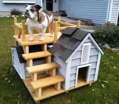 23 Ideas For Diy Dog Kennel Furniture Animals Build A Dog House, Dog House Plans, Small Dog House, Rideaux Design, Diy Dog Kennel, Dog Kennels, Cool Dog Houses, Dog Furniture, Dog Rooms
