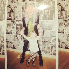 Lux and Lou today! Look how big she is!