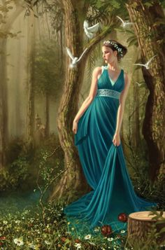 Persephone brings with her new life for the Earth when she emerges from the underworld every spring.
