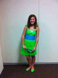 Erin's duct tape dress