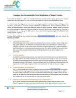 Gauging the Accountable Care Readiness of Your Practice