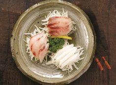 Fish Carpaccio with Gochu Jang sauce