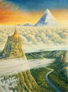 Islands in the Sky - A lone monk climbs a thousand steps to his temple in the sky by Mark Henson