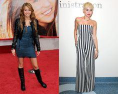 Los makeovers más impactantes de las celebrities MILEY CYRUS.