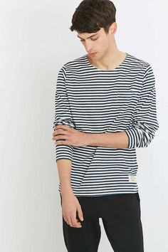 Suit Belmont Striped Long Sleeve Tee - Urban Outfitters