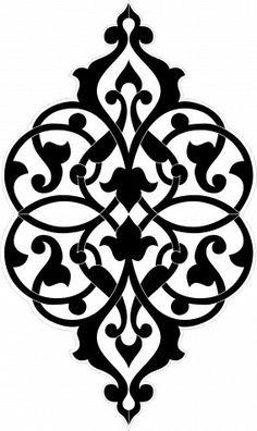 Decorative Design Element, Vector File, Monochrome Royalty Free Cliparts, Vectors, And Stock Illustration. Stencil Patterns, Stencil Designs, Pattern Art, Pattern Design, Damask Stencil, Motifs Islamiques, Home Bild, Motif Arabesque, Islamic Art Pattern