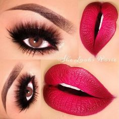 NYE look, this is gorgeous. I love the wispy lashes and the pop of color on the lip, fab.  Copy look? http://www.nyxcosmetics.com/c-2-eye-shadow.aspx#opi2167403372