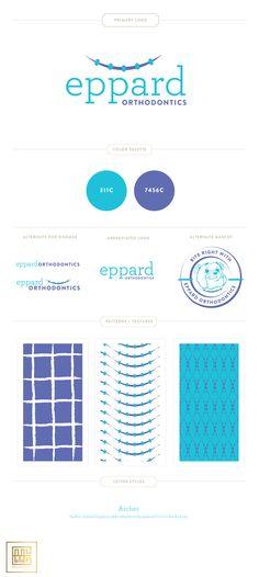 Emily McCarthy Branding Design | Eppard Orthodontics Branding Board