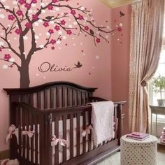 Cherry Blossom Tree Wall Decal - This nursery wall decal fits perfectly above your crib. Make it the focal point of your living room, family room or baby nursery room! Baby Girl Nursery Themes, Baby Room Decor, Wall Decor, Babies Nursery, Diy Wall, Nursery Ideas, Nursery Wall Decals, Nursery Room, Wall Stickers For Baby Room