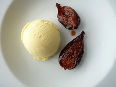 // Roasted Figs, Fennel Ice Cream