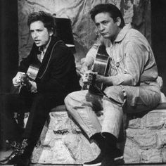 Two legends together! Bob Dylan and Johnny Cash recorded together in February of 1969 during the Nashville Skyline Sessions. #martinpride #TimelessTuesday