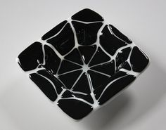 Halloween Fused Glass Candy Dish  Spider Web by OnlineGlass, $15.00