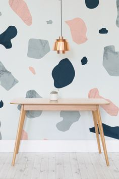 Ready to take on the Terrazzo trend? Soft pastel blues and pink come together to give a beautifully polished pattern. Perfect for injecting some colour into kitchen and dining room spaces!