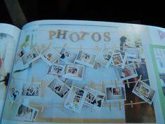 photo washing line for polaroids