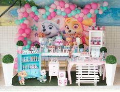 Girl Paw Patrol Party, Sky Paw Patrol, Paw Patrol Birthday Theme, Second Birthday Ideas, Girl 2nd Birthday, 4th Birthday Parties, Birthday Decorations, Ideas Para, Kids Part